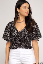 Load image into Gallery viewer, Loves Me Knot Short Sleeve Top // Black