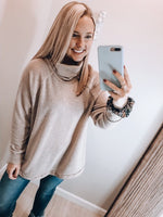 Load image into Gallery viewer, Cowl Hearted Long Sleeve Top