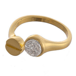 Gold Druzy Cuff Fashion Ring