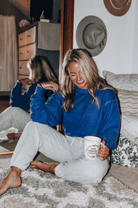 Daydreaming Sweatshirt // Indigo