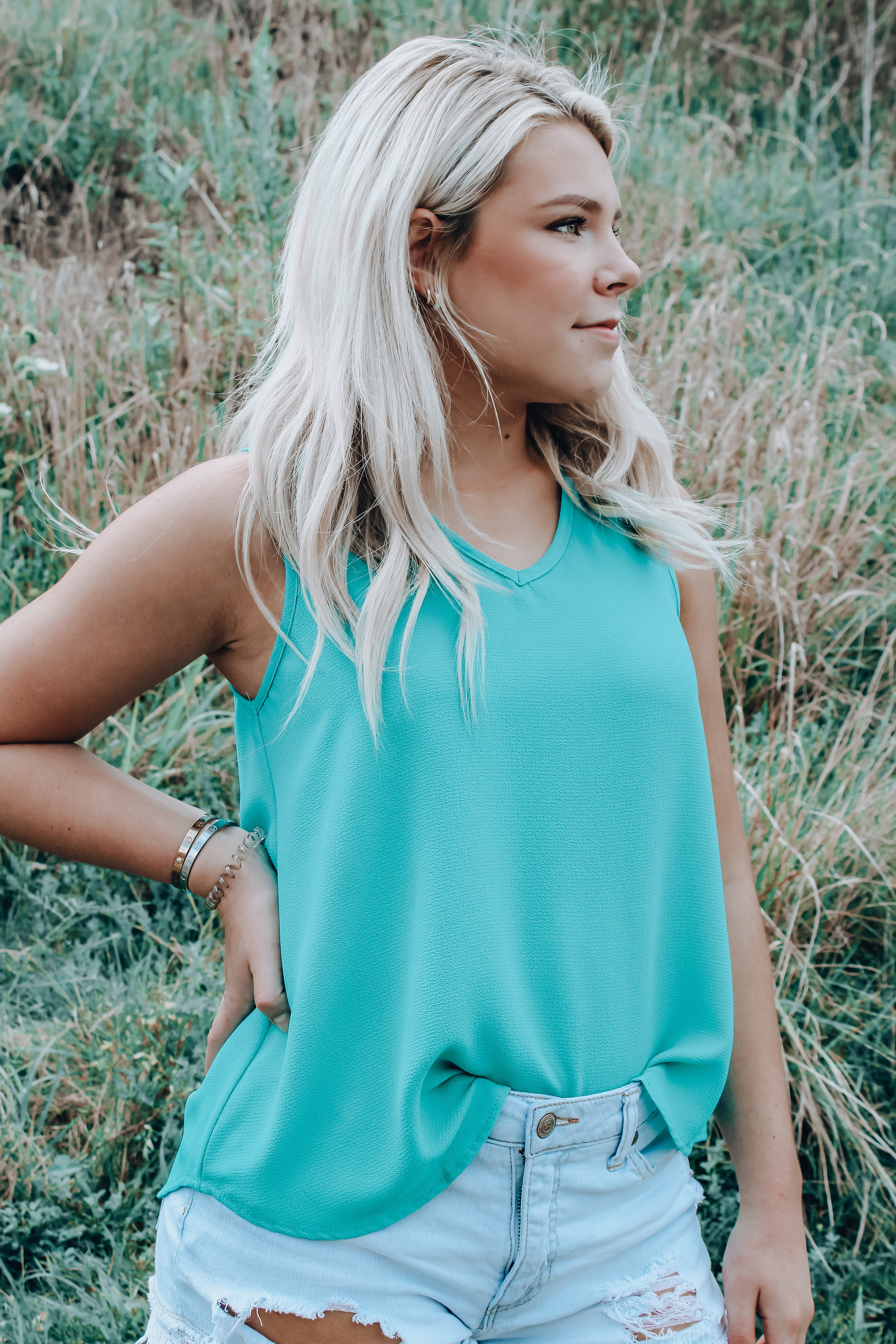 Seas The Day Tank // Green