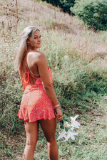 Load image into Gallery viewer, Oh Hello Romper // Tangerine