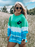 Load image into Gallery viewer, Almost Heaven Long Sleeve Jersey // Teal & Green