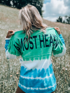 Almost Heaven Long Sleeve Jersey // Teal & Green