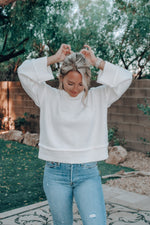 Load image into Gallery viewer, Fall In Love Sweater // Cream