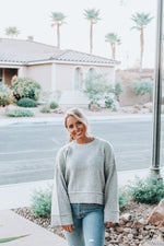 Load image into Gallery viewer, Fall In Love Sweater // Heather Gray