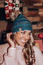 Load image into Gallery viewer, Colorado Snow Beanie // Navy Multi