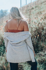 Load image into Gallery viewer, Popcorn & Chill Cardigan // Light Gray