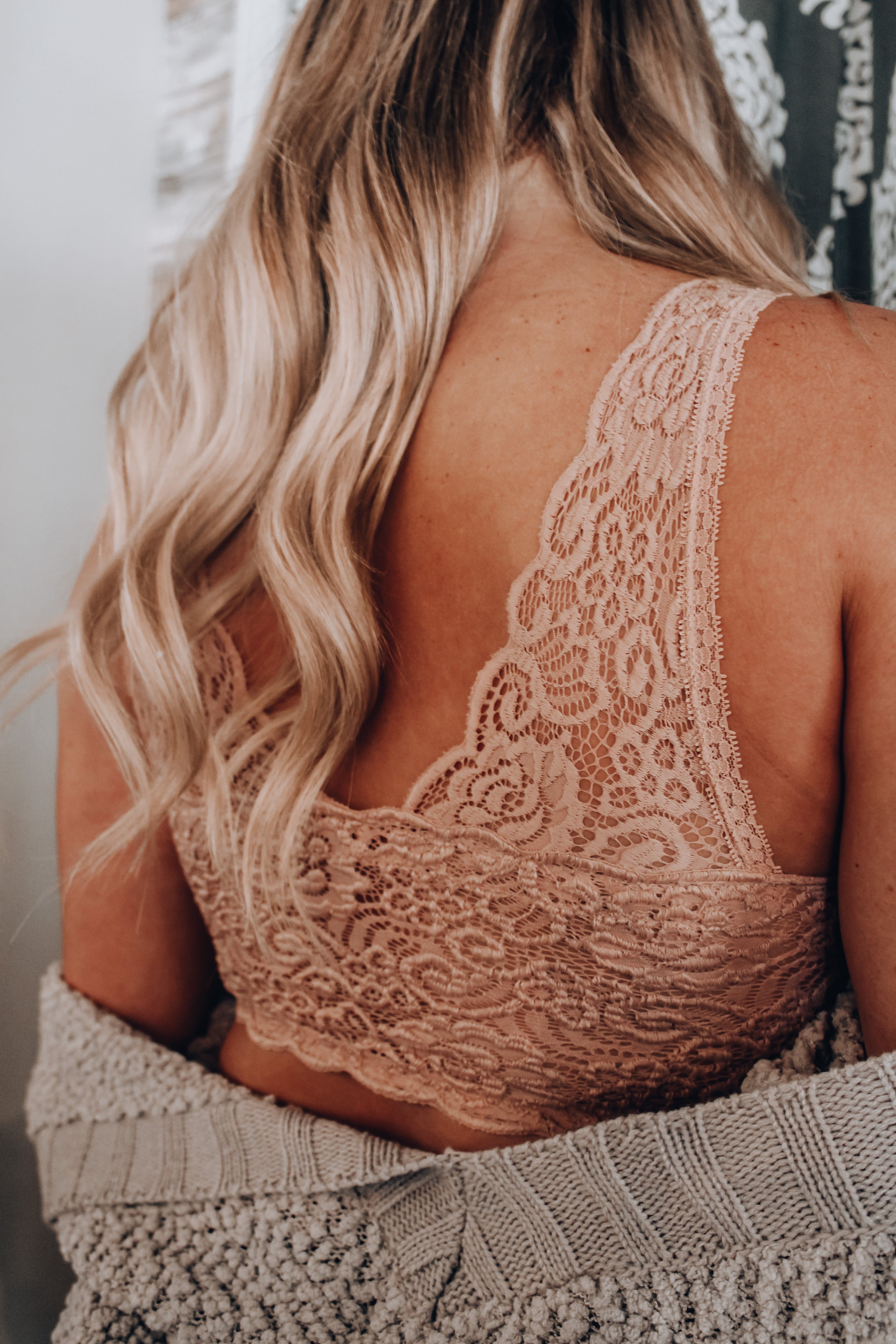 Love and Lace Bralette // Rose