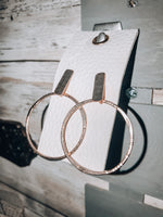 Load image into Gallery viewer, Hammered Hoop Earrings // Rose Gold