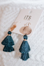 Load image into Gallery viewer, Tassel Earrings // Navy
