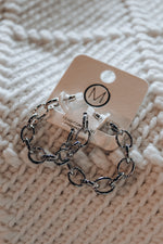 Load image into Gallery viewer, Chain Link Hoop Earrings // Silver