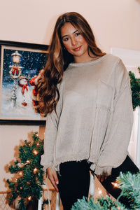 Cocoa Smiles Sweater // Light Tan