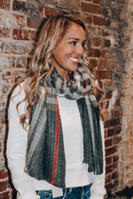 Load image into Gallery viewer, Mountain Top Scarf // Charcoal