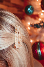 Load image into Gallery viewer, Season To Sparkle Hair Clip // Gold Speckle