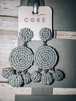 Load image into Gallery viewer, Looking Good Earrings // Gray
