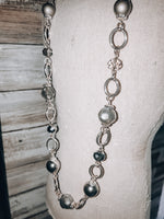 Load image into Gallery viewer, Long Smoked Glass Bead Necklace