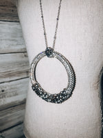 Load image into Gallery viewer, Circle Beaded Long Necklace