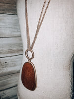Load image into Gallery viewer, Wood Pendant Long Necklace