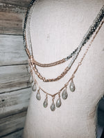 Load image into Gallery viewer, Layered Teardrop Necklace
