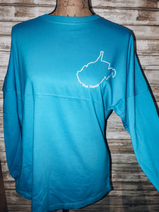 Almost Heaven Long Sleeve Jersey // Maui Blue
