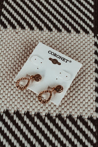 Coronet Circle Clip On Earrings // Gold