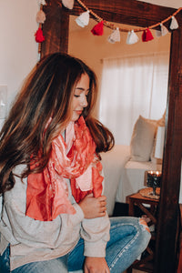 Love On The Weekend Scarf // Pink
