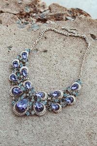 Winter Blues Necklace // Silver