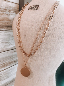 Chain Layer Necklace // Gold
