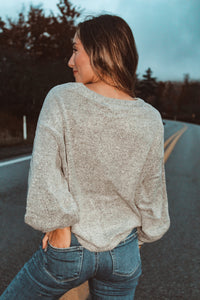 Easy Does It Sweater // Heather Grey