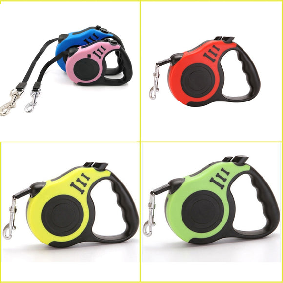 3M Roulette For Dogs Retractable Leashes Nylon Outdoor Flexible Cat Leash 5 Colors Puppy Collar Small Medium Pet Dog Accessories