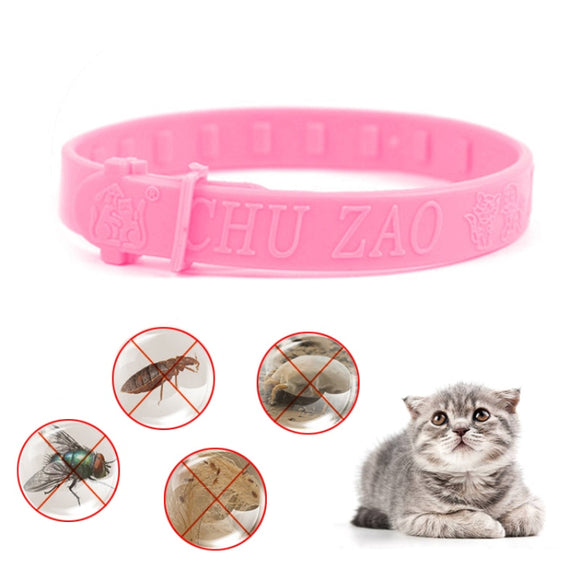 Flea Collar 1 Pcs Cute Style for Cat Size Adjustable Effective Removal of Fleas Lice Mites Mosquitoes Color Pink Drop Shipping