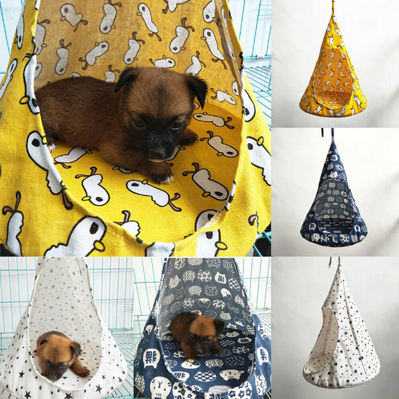 Newest Creative Pet Cat Puppy Dog Conical Sleeping Bed Basket Hammock Bed Mats Window Comfortable Cage Cat Hammock Without Rims