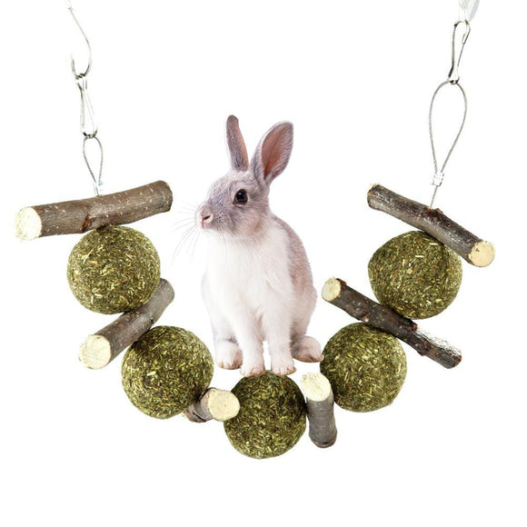 Rabbit Guinea Pig Chinchilla Pet Grass Ball Branch Molar Chew Play Teething Toy New Arrival