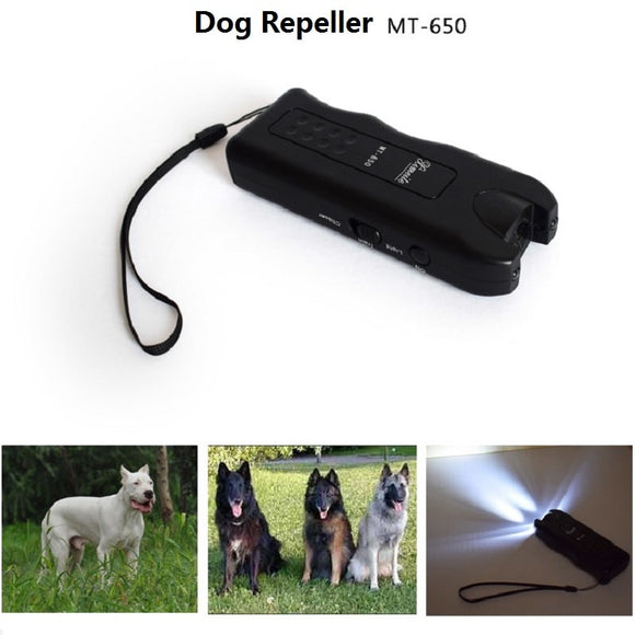 Dog Repeller Anti Barking Stop Bark Training Device Trainer LED Ultrasonic 3 in 1 Anti Barking Ultrasonic Without 9V Battery
