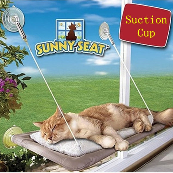 KEMISIDI Cute Pet Hanging Beds Bearing 15kg Cat Sunny Seat Window Mount Pet Cat Hammock Comfortable Cat Pet Bed Cats Training