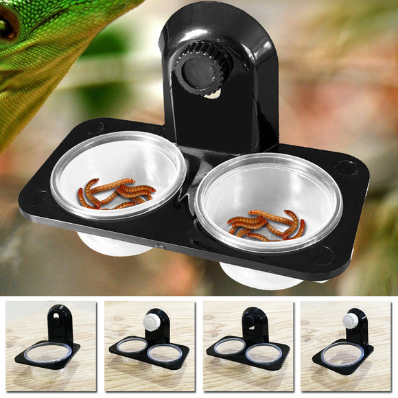 1 pc Reptile Tank Insect Spider Ants Nest Food Water Feeding Bowl Terrarium Breeding Feeders Box Pet Home Garden Farm Supplies