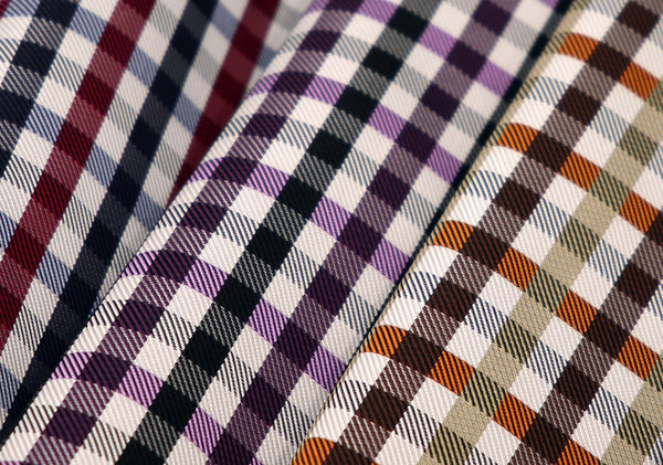 pure silk jacquard gingham check image