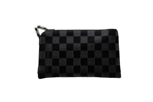 Pure silk Nishijin-Ori , clasp type card case , checkered pattern of lucent nylon & pure silk - Atelier Kyoto Nishijin