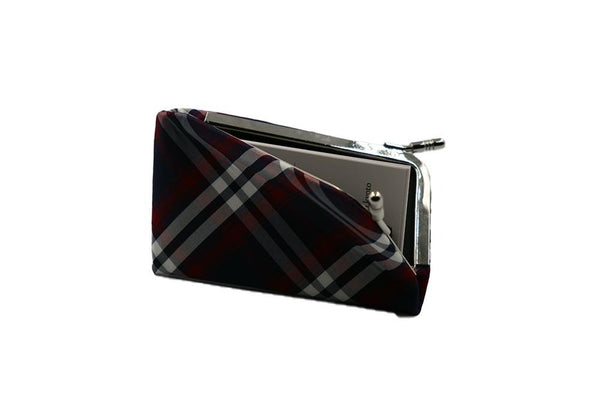 clasp type card case tartan check image