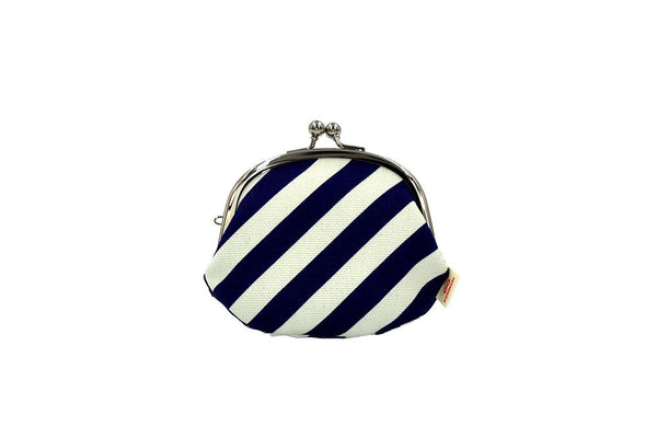 coin purse stripe navy front