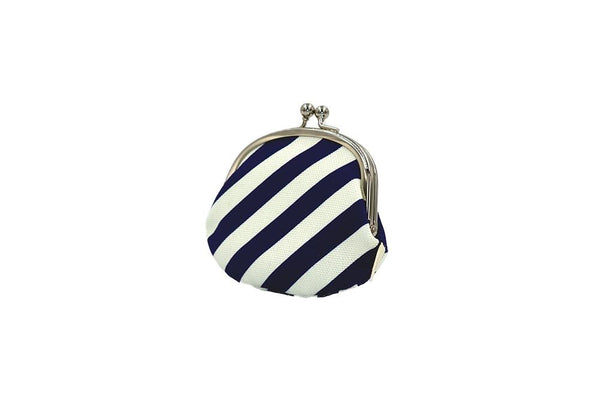 coin purse stripe navy tilt