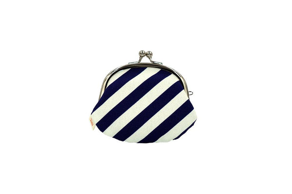 coin purse stripe navy backside