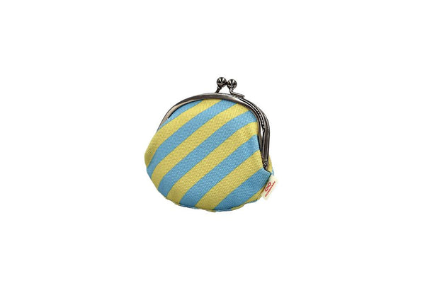 coin purse stripe yellow tilt