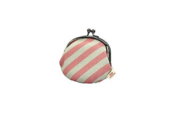 coin purse stripe pink tilt