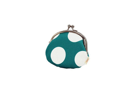 coin purse polka dot blue tilt
