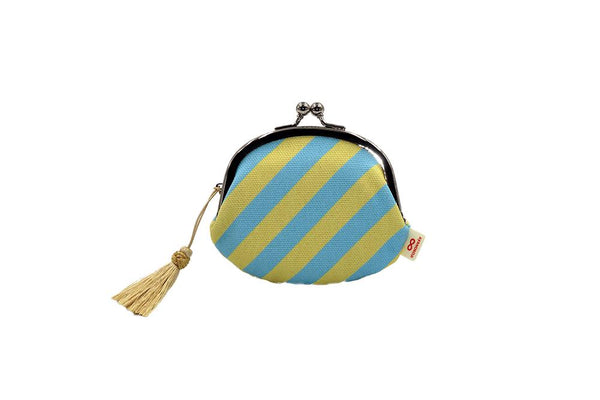 coin purse stripe yellow strap image