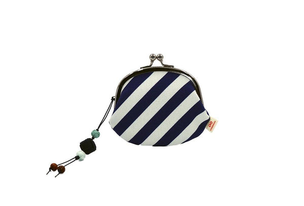 coin purse stripe navy strap image
