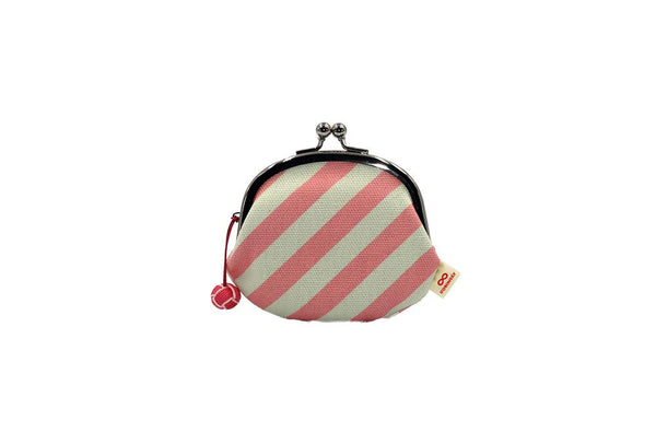 coin purse stripe pink strap image