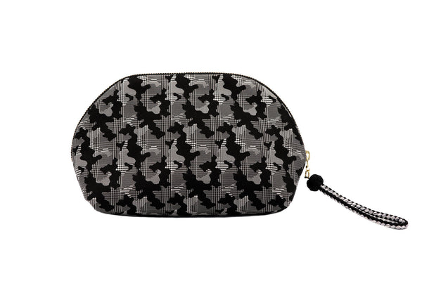 pure silk jacquard camouflage shell-shaped pouch black back